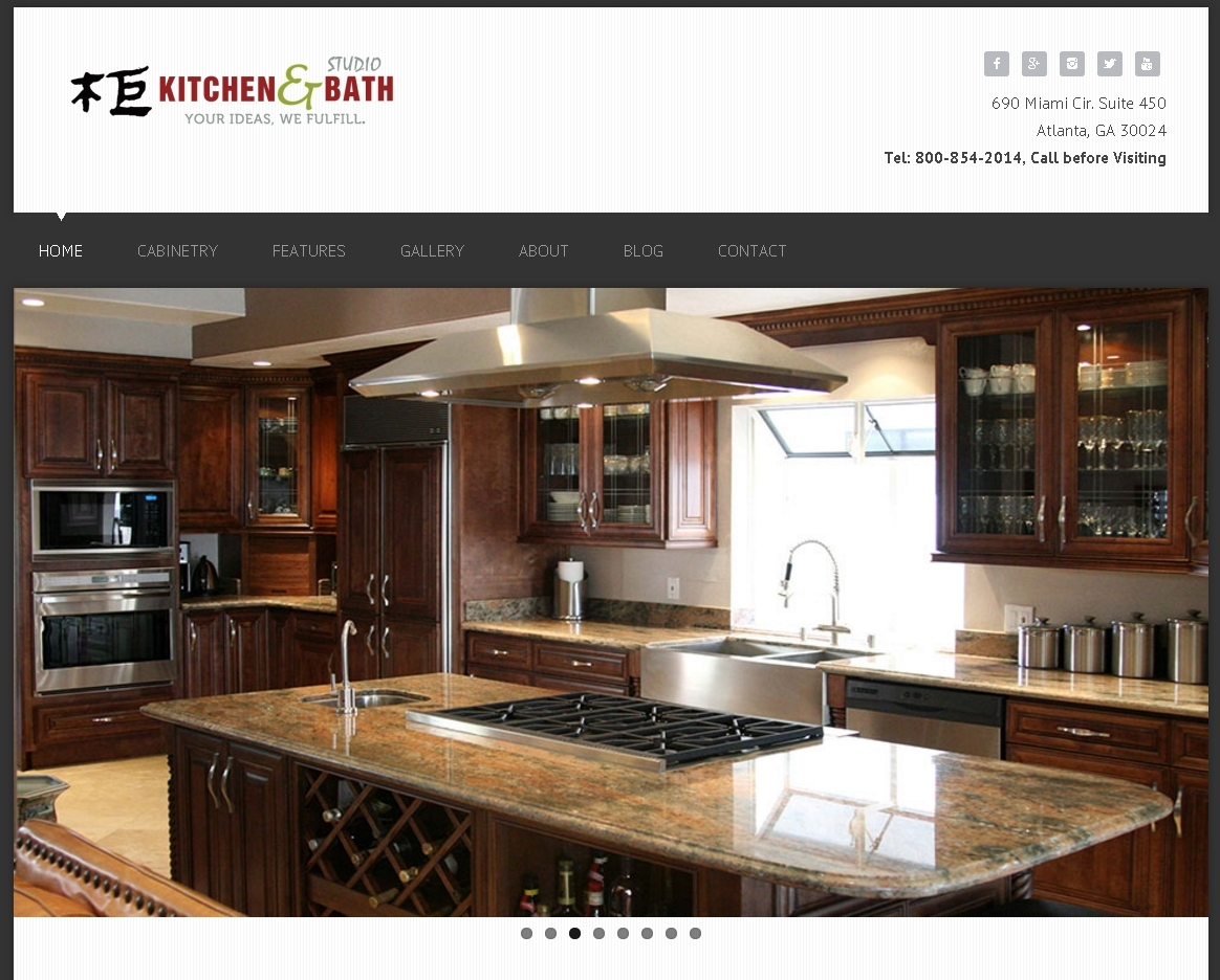 Kitchen Bath Studio Professional Web Design Mobile Website E Commerce Solution Cumming