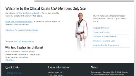 Member Site, Karate USA