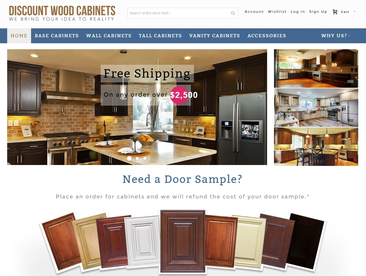 Discount Wood Cabinets Online - Discount Wood Cabinets Online Professional Web Design, Mobile